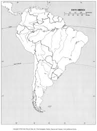 Political Map Of Latin America by Online Maps Blank Map Of South America