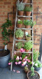 Outdoor Wall Planters by Creative Idea Diy Brown Old Wooden Garden Ladders Design With