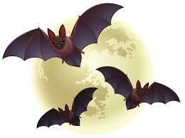 bats images clip art creepy halloween moon with bats png clipart gallery