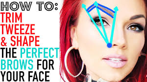 how to get perfect brows how to tweeze trim u0026 shape your