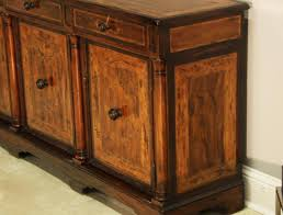 rustic walnut sideboard for dining room or office credenza