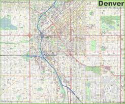 Large Map Of Usa by Large Detailed Street Map Of Denver
