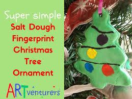 salt dough christmas tree ornaments artventurers