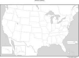 United States Map Major Cities by United States Blank Map