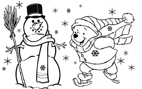 winnie the pooh free christmas coloring pages for kids christmas