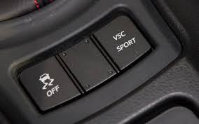 piano black dash panel and black traction control button scion