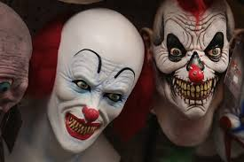 halloween mask costumes clown costumes banned from some halloween celebrations