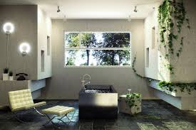 Natural Stone Bathroom Ideas Sunlight Streams Into Bathrooms Connected To Nature Natural
