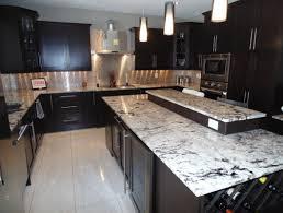 granite countertop dark grey kitchen units white backsplash tile