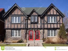 Tudor Style by Tudor Style Twin Houses Stock Photo Image 51768837