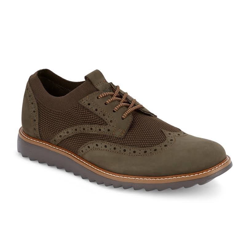 Dockers Hawking Knit/Leather SMART SERIES Dress Casual Wingtip Oxford Shoe with NeverWet
