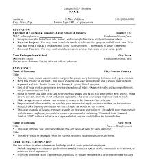 Mba Sample Resume by Mba Resume Template Download Free Samples Examples U0026 Format