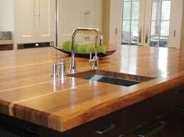 butcher block countertop black granite countertop beige granite