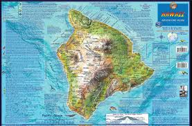 Map Of Waikiki Hawaii The Big Island Adventure Guide Franko Maps Waterproof Map