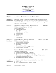 Student Resume Summary Examples by 10 Best Images Of Medical Assistant Student Resume Templates