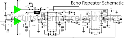 home theater circuit diagram echo effect with ic pt2399 u0026 4558 electronic circuit