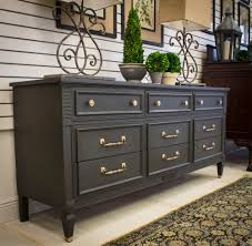 Chalk Paint Furniture Ideas by Gorgeous Dresser With Graphite Chalk Paint Project By Portilla