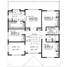craftsman style house plan 5 beds 3 00 baths 2615 sq ft plan