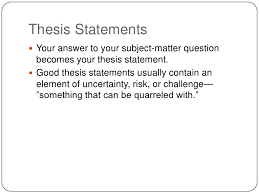 good quality thesis statement FAMU Online