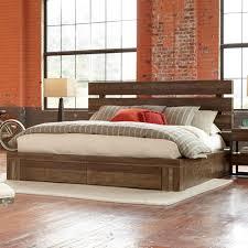 Palliser Alula Epicenters Williamsburg Wood Storage Bed In Reclaimed Pallet