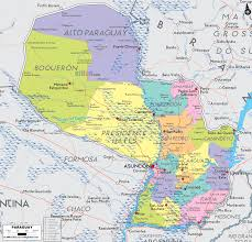 Political Map Of South America Map Of Paraguay South America