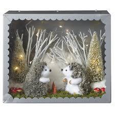 martha stewart living 11 in lighted hedgehog diorama 9733900730