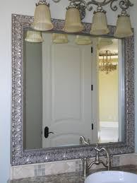 Bathroom Mirror Design Ideas Silver Wall Mirror Bathroom Framed Bathroom Mirrors Bath The Home
