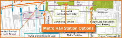 Los Angeles Light Rail Map by Connecting Metro Rail To Los Angeles International Airport Here