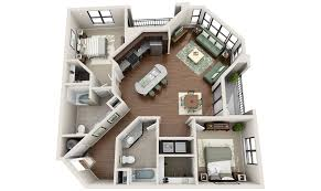awesome 3d apartment floor plans gallery house design ideas