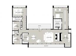 u shaped house floor plans fashionable inspiration 18 c with