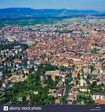 aerial view of colmar town alsace france stock photo royalty free