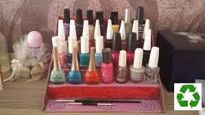 oje standı nail polish organizer rack diy youtube