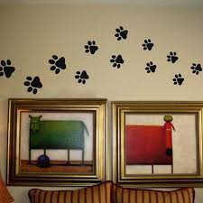 compare prices on paw print wall stickers online shopping buy low paw print wall stickers 20 walking paw prints wall decal home art decor dog cat