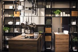 kitchen style modern industrial kitchen design open shelves