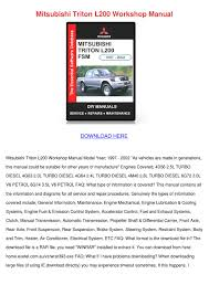 mitsubishi triton l200 workshop manual by noreen meilleur issuu