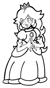 princess peach coloring pages olegandreev me
