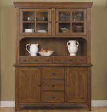 Kitchen Cabinet With Hutch Hearthstone Mission Style Buffet With China Hutch By Liberty