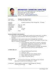 resume program manager architect makati