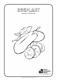 eggplant coloring page cool coloring pages