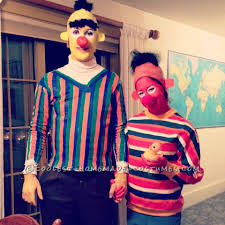 bert halloween costume coolest homemade bert and ernie costumes