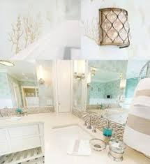 Coastal Bathroom Accessories by Our Sea Glass Inspired Beach Bathroom Remodel Beach Bathrooms
