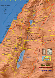 Exodus Route Map by Map Of The Roads In Ancient Israel Bible History Online