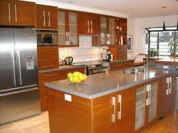 kitchen interesting long kitchen design with white backsplash