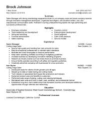 Resume Job Profile by Best Salon Manager Resume Example Livecareer
