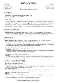 Example Of Resume No Experience by College Student Resume Samples No Experience Sample Resume For