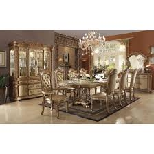 Acme Furniture Dining Room Set Acme Vendome China Cabinet In Gold Patina U0026 Bone Ac 63005 For