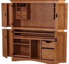 Solid Oak Office Furniture by Solid Wood Computer Armoire U2039 Decor Love