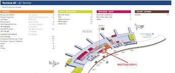 Charles De Gaulle Airport Map Les Lieus De Ramassage à L U0027aéroport