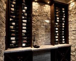 Wine Bar Decorating Ideas Home by Small Wine Cellar Idea Love The Stone And Color Of The Wood The