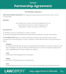 Letter Of Intent To Close Business by Partnership Agreement Form Partnership Agreement Template Us